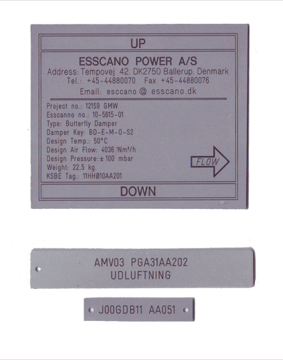 Aluminiums skilte